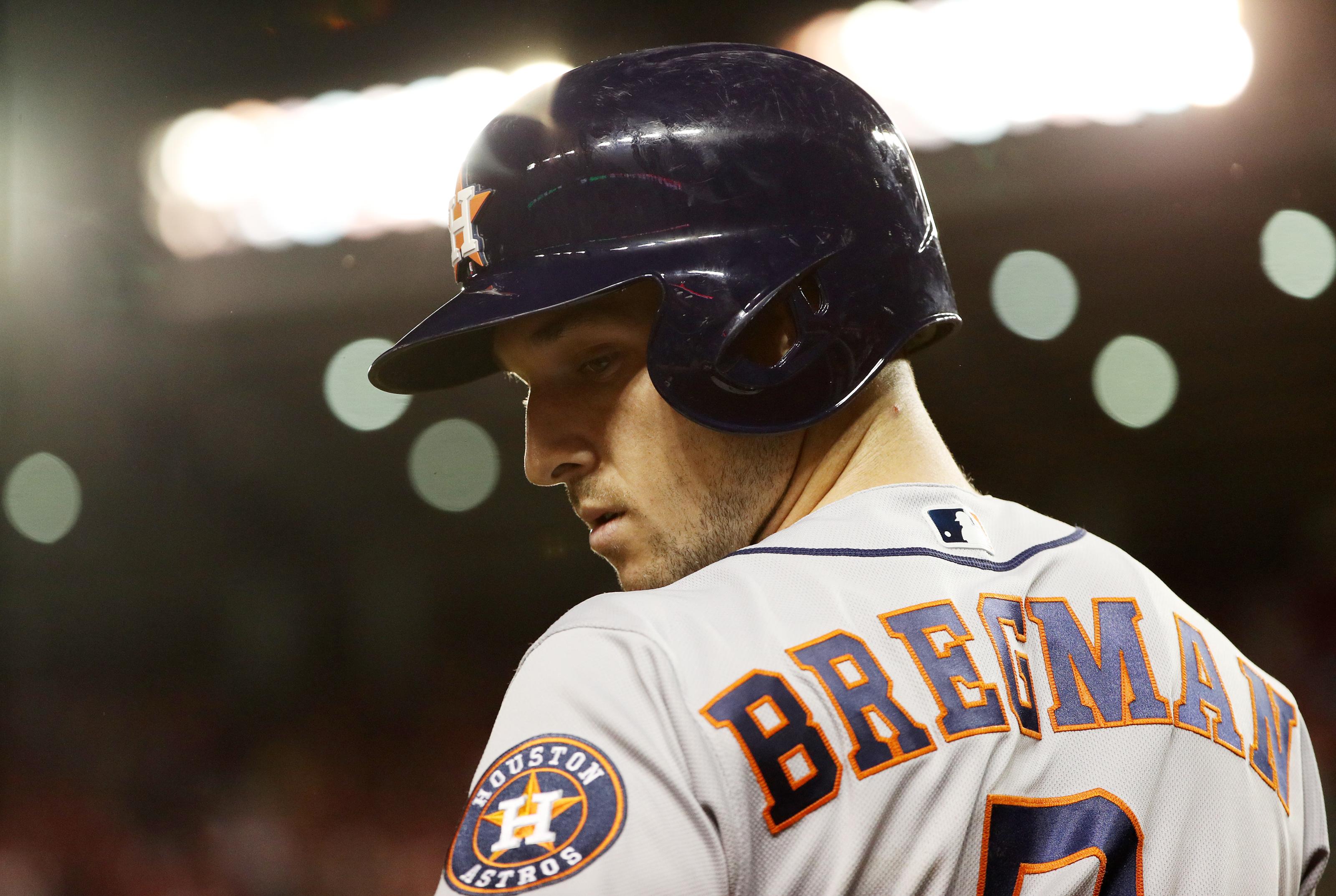Alex Bregman Houston Astros Spring Training Baseball Player Jersey